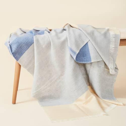 Ceru Handloom Throw   Linens & Bedding by Studio Variously