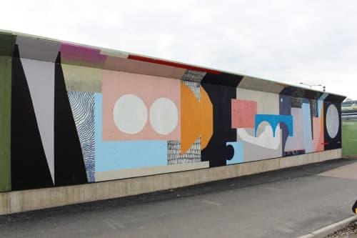 Street Murals by Sebastian Villabona seen at Central Station of Gothenburg, Gullbergsvass - Multiculturalism