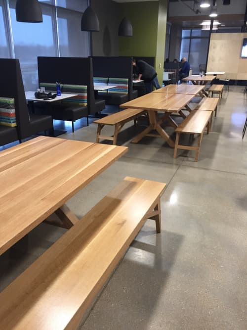 Tables by Goebel & Co. Furniture at Bunge North America Inc., Chesterfield - Bespoke Tables and Benches