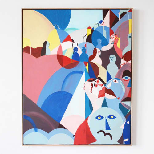 Paintings by Unwell Bunny / Ed Bechervaise - Acropolis selfie