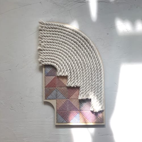 Arches & Stairs 2 | Wall Hangings by Nosheen iqbal