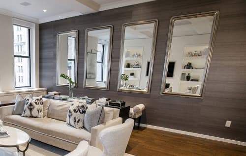 Grasscloth Wallpaper | Wallpaper by Thibaut | Private Residence - Flatiron in New York
