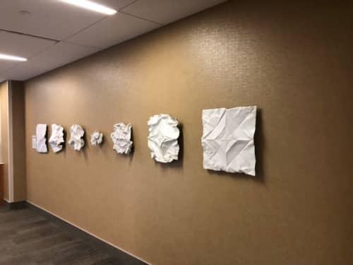Sculptures by KevinBoxStudio. at University of Nebraska Medical Center, Omaha - Center Peace