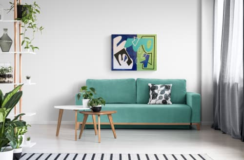 Fun and Games Abstract canvas painting | Paintings by Gwen Gunter