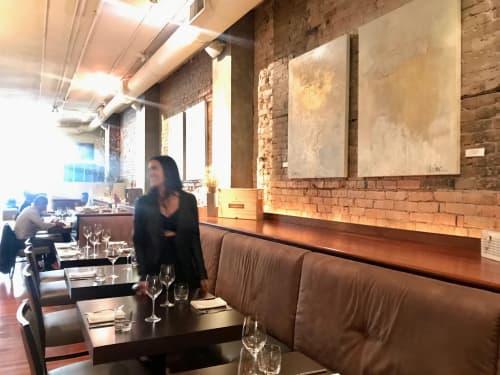 "Paintings by Samantha daSilva Fine Art seen at Blink Restaurant & Bar, Calgary - ""After Paris"" Paintings"