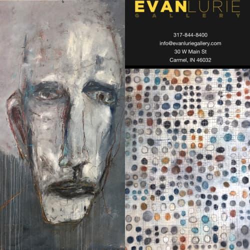 Paintings by Gebhardt Gallery seen at Evan Lurie Gallery, Carmel - Gebhardt Paintings At Evan Lurie Gallery