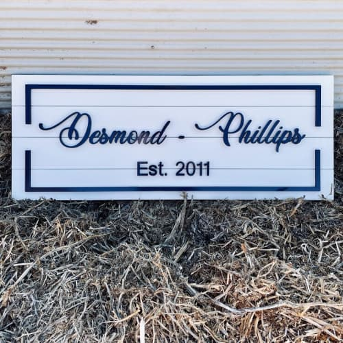 Family Est. Custom Sign   Signage by Girl In Her Shed