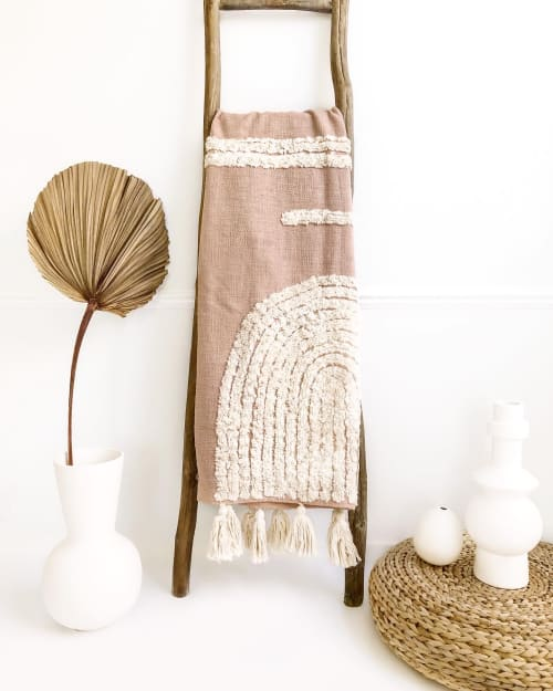 Laguna Throw Blanket | Linens & Bedding by Coastal Boho Studio