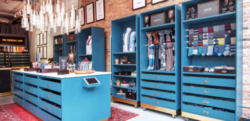 Interior Design by Gala Magrina Design seen at The Tie Bar Flagship, Chicago - The Tie Bar Store