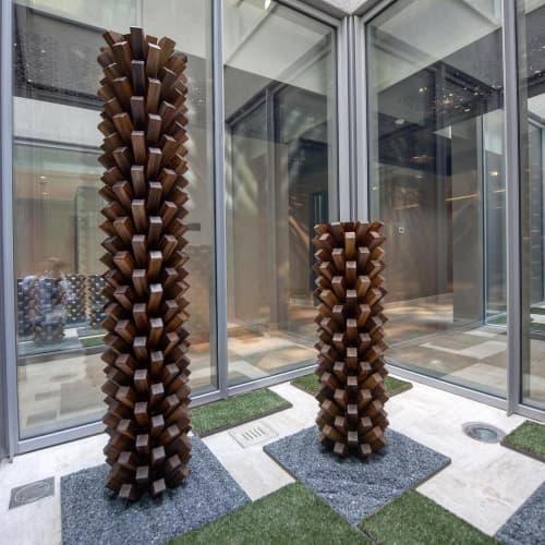 "Sculptures by Khalid Shafar seen at Dubai, Dubai - ""Babylon"" Sculpture"