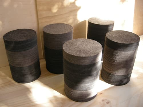 Industrial Felt Tables/Stools   Chairs by Jason Lees Design