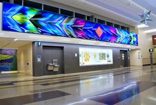 Art & Wall Decor by Philip Noyed seen at Minneapolis–Saint Paul International Airport (MSP) - Aurora Borealis and L'Etoile du Nord