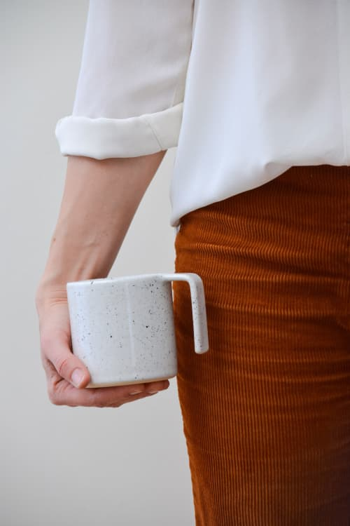 Speckled L-Grip Mugs   Cups by Stone + Sparrow
