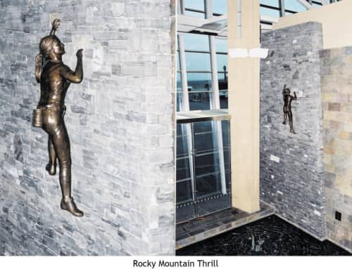 Rocky Mountain Thrill   Public Sculptures by Don Begg / Studio West Bronze Foundry & Art Gallery   Calgary International Airport in Calgary