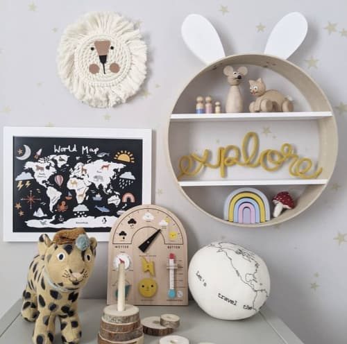 Lion head wall hanging | Wall Hangings by Florrie and Olive
