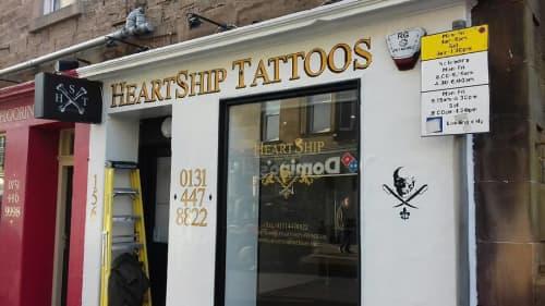 HeartShip Tattoos Signage   Signage by Journeyman Signs (TATCH)   HeartShip Tattoos in Edinburgh