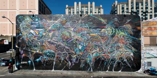 "Street Murals by Max Ehrman (Eon75) seen at Mitchell Brothers O'Farrell Theatre, San Francisco - ""Archons Dream"""