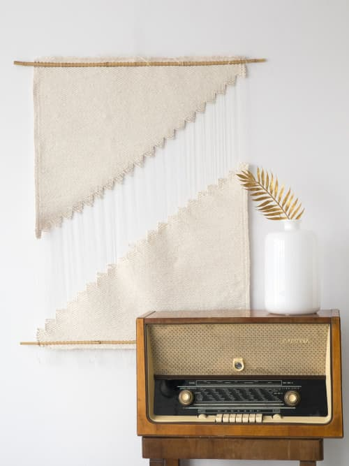 Hagdan - Cotton Rope Textile Art   Wall Hangings by Lale Studio