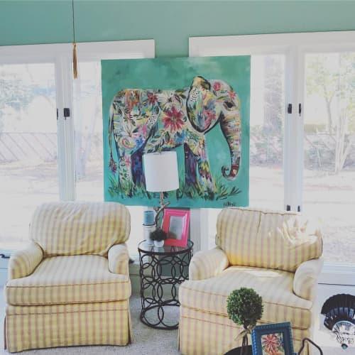 Paintings by Brittany Rawls Art - Elephant Painting