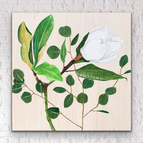 Paintings by Brooke Rowlands seen at Creator's Studio, Oklahoma City - Magnolia & Eucalyptus