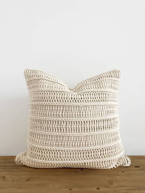 Mare Pillow Cover | Handwoven | Pillows by Coastal Boho Studio