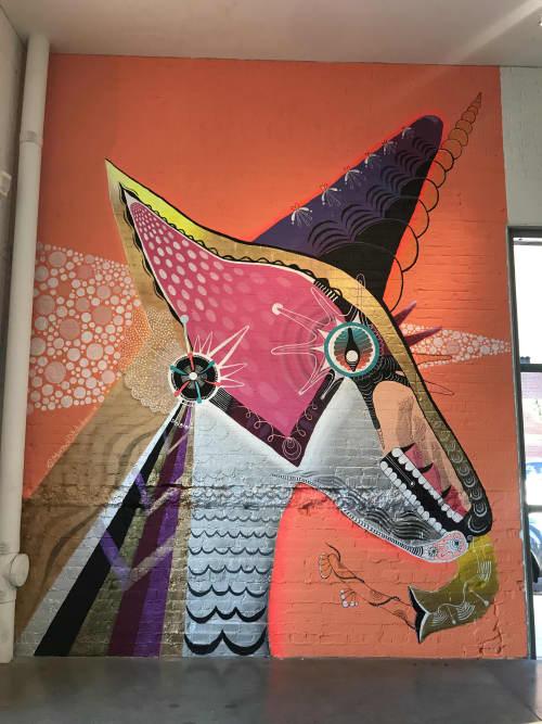 Unicorn apprentice   Murals by Marisol D'Estrabeau   CAM Raleigh in Raleigh