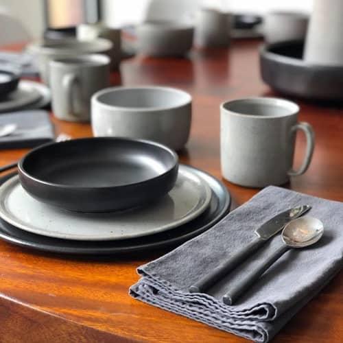 Arapahoe Residence Dinnerware Set   Ceramic Plates by Fenway Clayworks