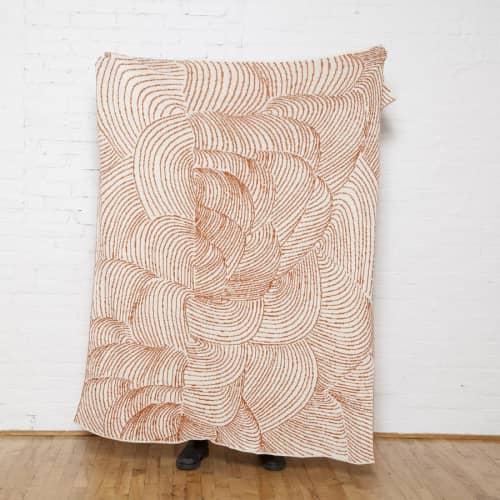 Linens & Bedding by Jill Malek Wallpaper - Cocoon Reversible Throw   Braza/ceniza