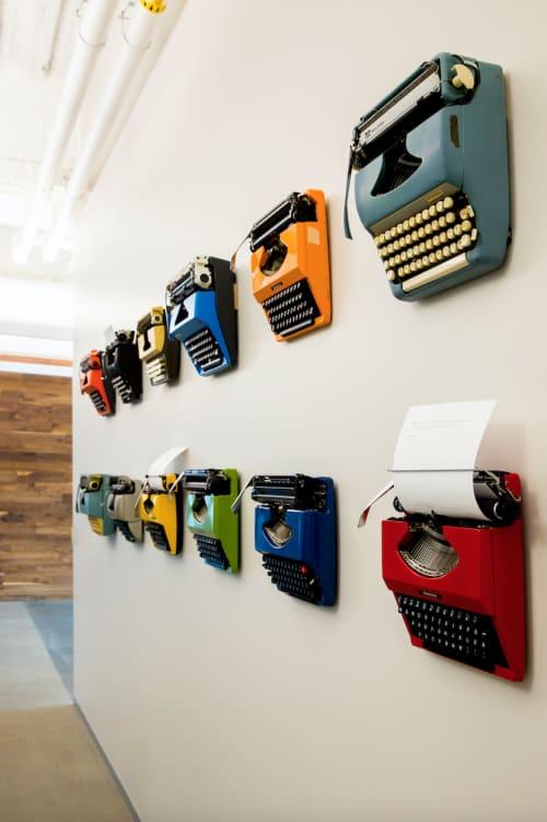 "Art & Wall Decor by ANTLRE - Hannah Sitzer seen at Google RWC SEA6, Redwood City - ""Typewriters"""