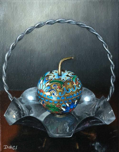 Cloisonné Apple Painting | Paintings by Daniela de Castro Sucre