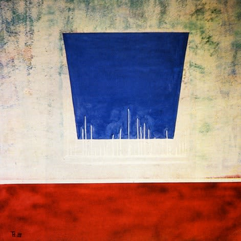 Paintings by Tibor Hargitai Art seen at Private Residence, London - Just before it's going to happen 1993
