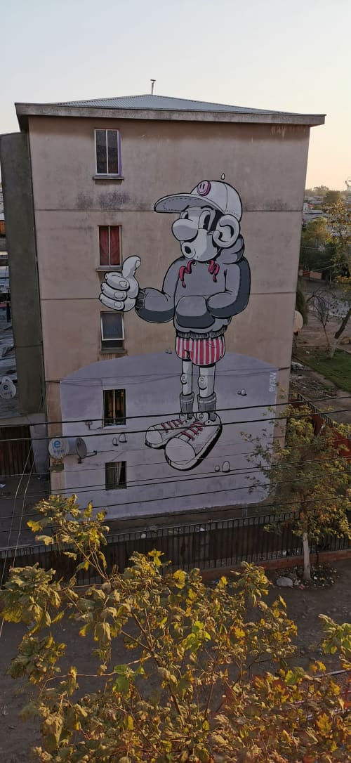 Murals by Yuri trechswjakow - The guys with stripped short