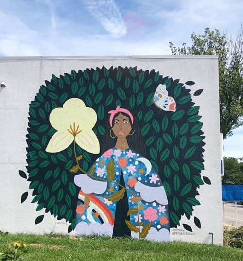 Street Murals by Christina Persika seen at Wauwatosa, Wauwatosa - 'What Blooms Is Us'