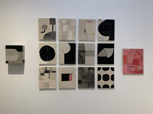 Paintings by Jonathan Parker seen at New Mexico Museum of Art, Santa Fe - Installation shot