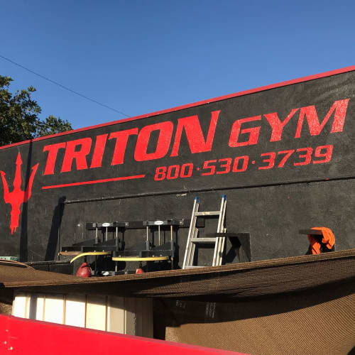 Sign Painting | Paintings by Top Notch Signs | Triton Gym in Redondo Beach
