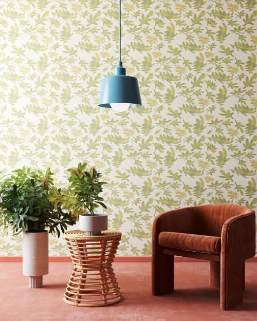 Old Oak Wallpaper in Terra Verte   Wallpaper by Stevie Howell   Los Angeles in Los Angeles