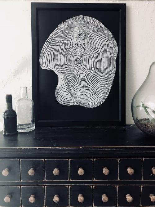 Mulberry Tree Ring Print on Black Paper | Art & Wall Decor by Erik Linton