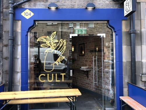 CULT Coffee Signwriting | Signage by Rachel E Millar