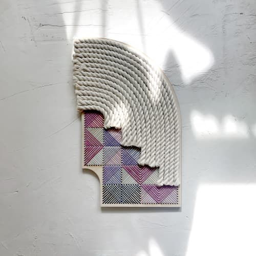 Arches & Stairs 1 | Macrame Wall Hanging by Nosheen iqbal