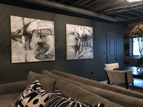 City Nights I and II | Paintings by Debbie Ezell