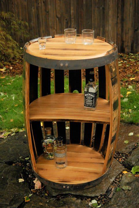 Whiskey Barrel Bar | Furniture by RAW Woodworks