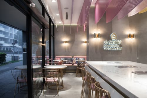 Architecture by Caesarstone Australia seen at Bengong's Tea & Bakery, Rhodes - Architecure