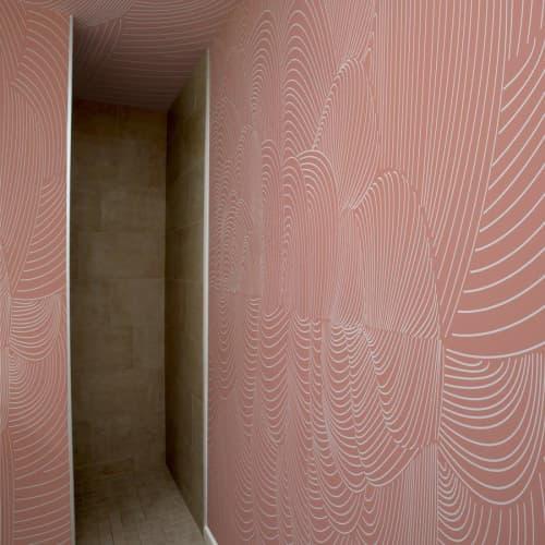 Wallpaper by Jill Malek Wallpaper - Cocoon   Dusty Rose