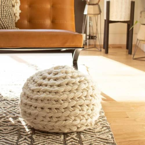 Hand Crochet Pouf DIY KIT | Benches & Ottomans by Flax & Twine