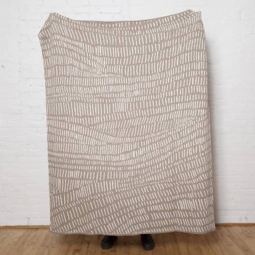 Linens & Bedding by Jill Malek Wallpaper - Terrains Throw   Hemp/ceniza