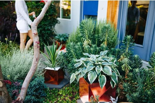 Origami planters | Vases & Vessels by Trey Jones Studio | Trey Jones Studio in Washington