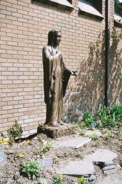 Virgin Mary, The | Public Sculptures by Don Begg / Studio West Bronze Foundry & Art Gallery | St. Stephen Protomartyr Ukrainian Catholic Church in Calgary