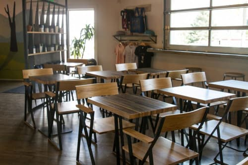 Chairs by Art Builders Guild at Huckleberry Roasters, Denver - Huck Chair