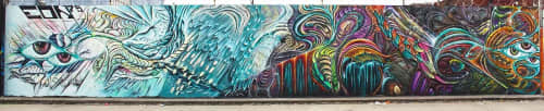 Street Murals by Max Ehrman (Eon75) seen at Oakland, Oakland - Time for a change