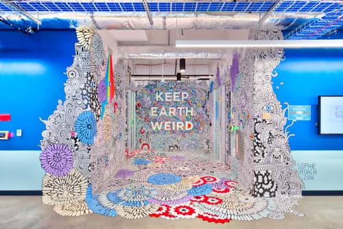 Facebook ATX - Artist in Residence | Murals by Sophie Roach | Facebook in Austin